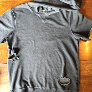 On The Byas Mens Hoodie Sweat Shirt Short Sleeve